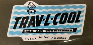 Vintage Trav L Cool Car Swamp Cooler Window Air Conditioner Decal High Quality