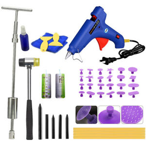 Dent Puller Pdr Glue Paintless Repair Tools Car Auto Removal Kit Slide Hammer Us
