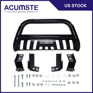 Black Bull Bar Bumper Grill Grille Brush Guard Skid For 05 15 Toyota Tacoma