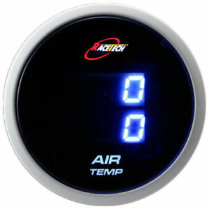 60 Mm Inside Outside Thermo Air Temp Gauge Meter Car Dual Display Blue Led