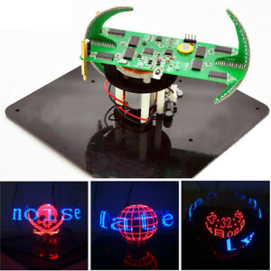 Geekcreit Diy Biaxial Spherical Rotating Led Kit Creative Pov Soldering Training