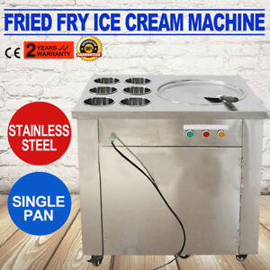 Fried Ice Cream Machine 1 Pan 6boxes Ice Cream Roll Maker Commercial Shop Store