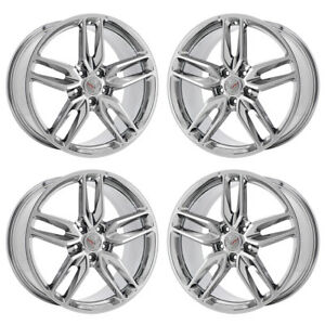 19 20 Corvette Z51 Pvd Chrome Wheels Rims Factory Oem Gm 5635 5641 Exchange