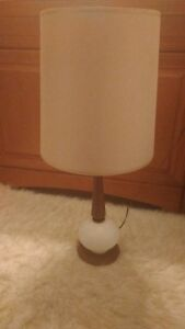 Mid Century Modern Lamp With Off White Original Lamp Shade Additional Red One
