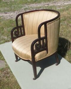 Chinese Shanghai Art Deco Chair Great Form Original Finish 1930s