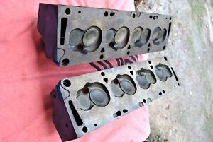 60 69 352 390 428 Ford Cylinder Heads Coae 6090 D Super Rare Small Chamber Nice