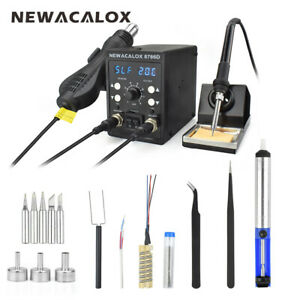 2in1 110v 220v 750w Digital Soldering Iron Station Desoldering Hot Air Gun Smd