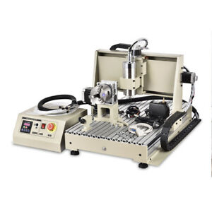 Cnc6040z 4 Axis Router Engraver Machine Engraving Drilling Desktop Vfd 3d Carver