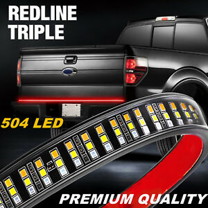 60 in Led Strip Tailgate Rear Light Bar Reverse Brake Turn Signal Stop Truck Bed