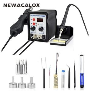 220v 700w Digital Soldering Iron Station Desoldering Hot Air Gun Smd Rework
