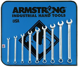 Armstrong 52 630 9 Piece 12 Point Metric Full Polish Long Combination Wrench Set