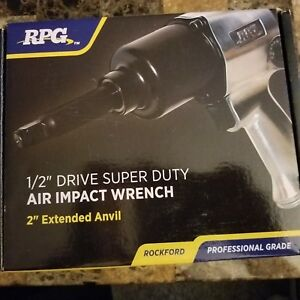 Rockford Professional Grade Super Duty Air Impact Wrench Gun 1 2 Inch New 600ft