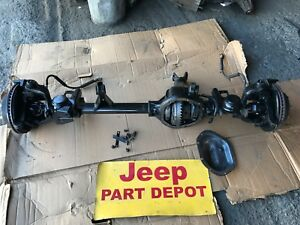1997 2006 Jeep Wrangler Rubicon Front Differential Complete Axle Dana 44 R 410