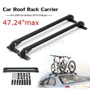47 Universal Car Top Luggage Roof Rack Cross Bar Carrier Adjustable For 4dr Suv