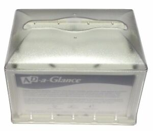 Sca Xpressnap Tabletop Napkin Dispenser With Ad a glance Clear granite 31xpt
