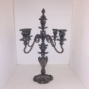 Pairpoint Silver Plate Vintage Candelabra Mfg Co 6156 Adjustable 5 Arm