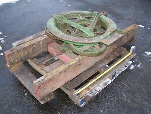 Old Dain One Horse Power Belt Drive Farm Implement Pre John Deere Burr Mill Wow