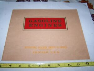 Old Ihc Famous Hit Miss Gas Engine Sales Catalog Tom Thumb Tractor Magneto Nice