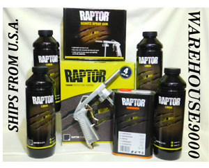 Up0820 U Pol Raptor Black Spray On Truck Bed Liner Kit Save Money Diy