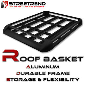 Universal 50 Blk Aluminum Roof Top Rack Basket Luggage Cargo Carrier Storage Sd