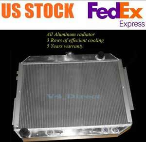 26 Wide 3 Rows Aluminum Radiator Fit 1966 1970 Chrysler 300 Imperial newport