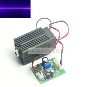 Line 405nm 200mw 12v Violet blue Laser Diode Module W ttl Driver Fan Powerful