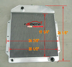 3 Rows Aluminum Radiator For Ford V8 Cars 1949 1950 1951 1952 1953 Manual Mt