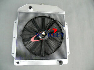3 Rows Aluminum Radiator 16 Fan For Ford Cars V8 1949 1950 1951 1952 1953 Mt