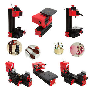 6 In 1 Diy Mini Wood Metal Motorized Lathe Machine Woodworking Turning Tool Kit