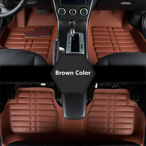 5pcs Waterproof Universal Car Floor Mat Front Rear Carpet Auto Mat All Weather