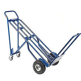 Steel 3 in 1 Convertible Hand Truck With Pneumatic Wheels Lot Of 1