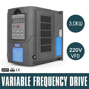 3kw Variable Frequency Drive Speed New Close loop Vsd 3000w Inverter Cnc