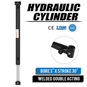 Hydraulic Cylinder 3 Bore 30 Stroke Double Acting Sae 8 Excellent Maintainable