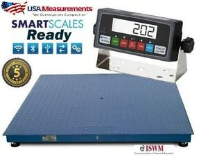 4x4 Heavy Duty Steel 200 Overload Protection Floor Pallet Scale 5 000 Lb