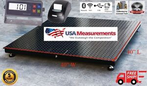 Floor Scale Pallet Warehouse With Printer 5 Year Warranty 2 500 Lb 40 x40