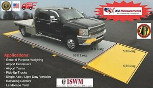 Legal For Trade Axle Scale Car Scale 10 Ft X 8 Ft Truck Scale 30 000 Lb Ntep
