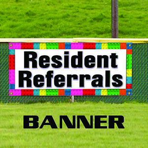Resident Referrals Sign Commercial Outdoor Vinyl Banner Sign