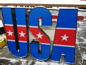 Reclaimed Commercial Huge Completely Assembled Led usa Outdoor Wall Sign