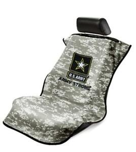 Seat Armour Universal Car Seat Cover Us Army Camo Logo