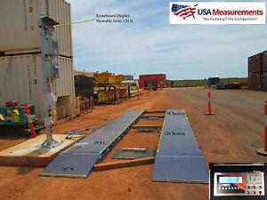 19 Ft Truck Scale Portable Axle Scale 120 000 Lb W Printer Scoreboard Indicator