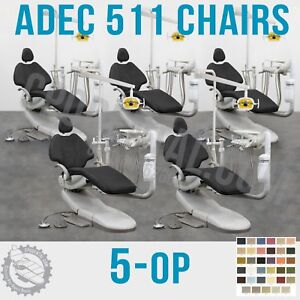 5 Op Adec 511 Dental Chair Delivery System Assistant Package