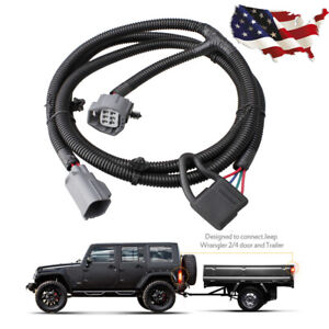 65 Trailer Tow Hitch Wiring Harness Kit 4 Way For 2007 17 Jeep Wrangler Jk 2 4