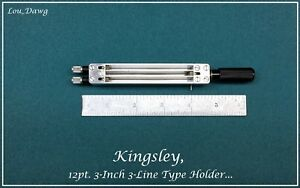 Kingsley Machine 12pt 3 inch 3 line Type Holder Hot Foil Stamping Machine