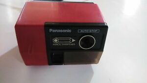 Panasonic Kp 123 Vintage Red Electric Pencil Sharpener Auto stop 100 Tested
