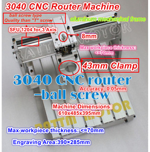 3040 Cnc Router Desktop Ball Screw Wood Milling Table Engraver Machine Frame Kit