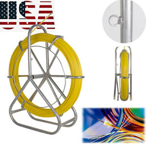 Fish Tape Fiberglass Wire Cable Running Rod Duct Rodder Fishtape Puller Device