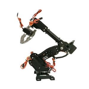 Wifi Metal 8 dof Robot Arm Gripper Claw Kit Mg 996r Servo For Arduino Black