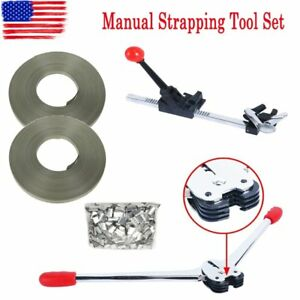 Complete Strapping Tool Kit With 345ft Poly Banding Metal Sealer Tensioner Us Sn
