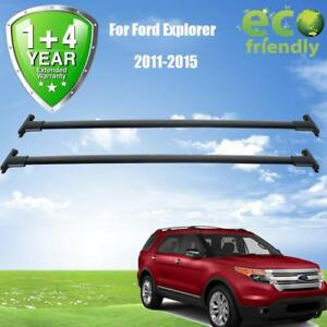 For 2013 Ford Explorer Roof Rail Rack Cross Bars Basket Carrier Oem Replacement