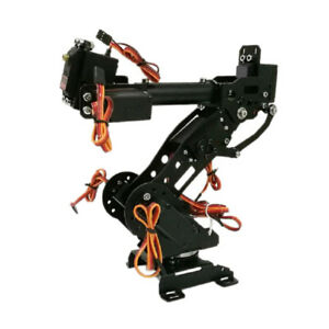 Wifi Metal 8 dof Robot Arm Gripper Claw Kits 3316 Servo For Arduino Black